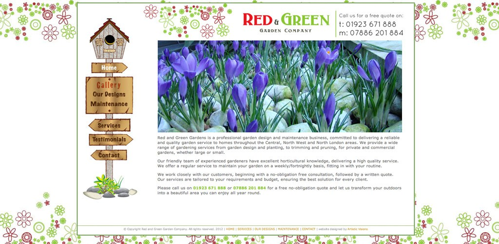 red and green gardens